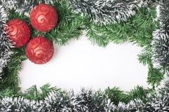 Garnering för nya år och jul Arkivbilder
