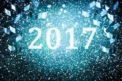 Garnering för nytt år, Closeup på guld- bakgrunder Fotografering för Bildbyråer