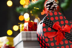 Garnering för nytt år för jul Arkivfoton