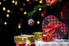 Garnering för nytt år för jul Arkivbilder