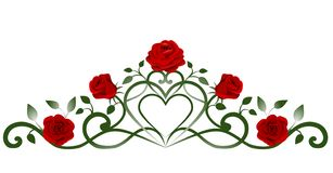 garnering f?r r?da rosor och sida vektor illustrationer