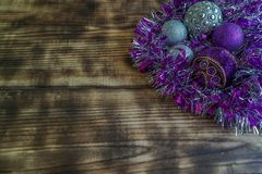 Garnering för ` s för påsk och för nytt år för julgran arkivbild