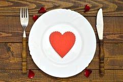 Garnering för tabell för dag för valentin` s Royaltyfri Bild