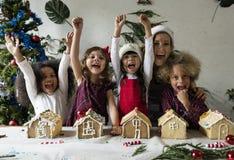 Garnering för teckningar för tema för guld- klocka för jul arkivfoto