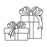 Garnering för två gåvaaskar stock illustrationer