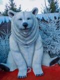 Garnering för vit björn för jul royaltyfri foto