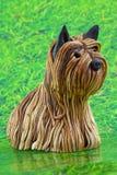 garnering för yorkshire terrier Fotografering för Bildbyråer
