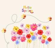 Garnering förgrena sig med blommor, vår vektor illustrationer