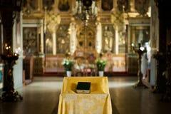 Garnering i den ryska Christian Church Royaltyfria Bilder