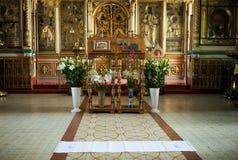 Garnering i den ryska Christian Church Royaltyfri Foto