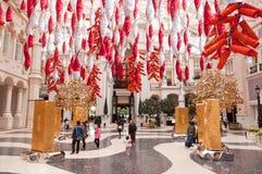 Garnering i hotelllobbyen, Macao Royaltyfri Bild