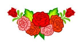 Garnering med mexikanska blommor royaltyfri illustrationer