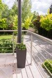 Garnering på terrassen fotografering för bildbyråer