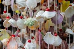 Garnering som göras av färgrika skal från havet Fotografering för Bildbyråer