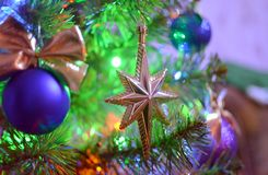 Garneringar för en jultree Royaltyfria Foton