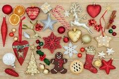 Garneringar och symboler av jul Royaltyfri Fotografi