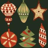 Garneringbeståndsdelar för jul 2 royaltyfri illustrationer