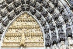 Garneringbeståndsdelar på den Cologne kupolen Royaltyfria Foton