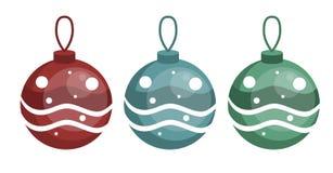 Garneringbollar på gran-trädet vektor illustrationer