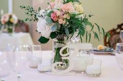 Garneringbröllopkorridor, bröllopdekor Arkivbild