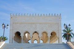 garneringdetaljmausoleum mohammed morocco rabat v Arkivbilder