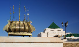 garneringdetaljmausoleum mohammed morocco rabat v Royaltyfri Fotografi