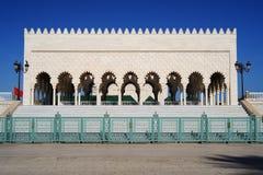 garneringdetaljmausoleum mohammed morocco rabat v Arkivfoto