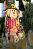 garneringhalloween scarecrow Arkivfoto