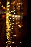 Garneringljus på spårvagnmedlet Royaltyfri Bild