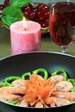garneringräkagrönsak Royaltyfri Foto