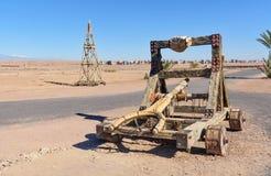 Garneringslangbåge i Kartbok Korporation studior Ouarzazate Royaltyfri Foto
