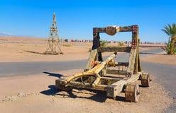 Garneringslangbåge i Kartbok Korporation studior Ouarzazate Arkivfoto