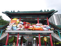 garneringträdgården syndar tai-tempelwong Royaltyfri Bild