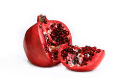Garnet. A ripe and juicy with nice bright pomegranate seeds Royalty Free Stock Photography