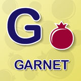 Garnet abecadła tło ilustracja wektor