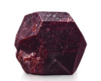 Garnet. The garnet (almandine) on white royalty free stock photography