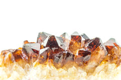 Garnet. Closeup of the gem stone royalty free stock photo