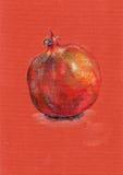 Garnet, color pencil Royalty Free Stock Photo