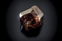 Garnet Faceted Crystal imagens de stock