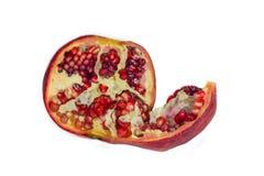 Garnet fruit isolated. On white background Royalty Free Stock Image