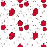 Garnet fruits seamless pattern Royalty Free Stock Images