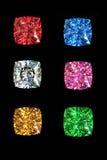 Garnet gems  isolated on black background Stock Photos