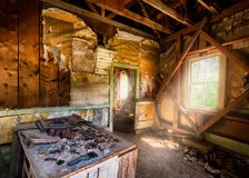 Garnet Ghost Town. Interior of abandoned store at the Garnet Ghost Town north of Drummond, Montana royalty free stock image