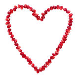Garnet grains heart isolated Stock Images