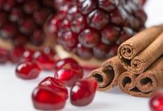 Garnet grains Stock Image