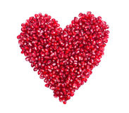 Garnet, grains, pomegranate seeds in the form of Stock Image