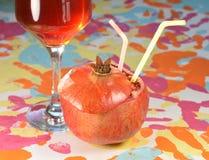 Garnet i wino Fotografia Royalty Free