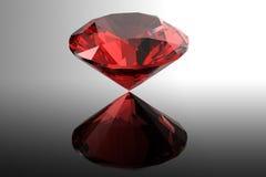 Garnet.Jewelry gems roung shape on black background Royalty Free Stock Photos