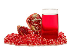 Garnet juice Stock Image