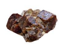 Garnet kryształy Zdjęcia Stock